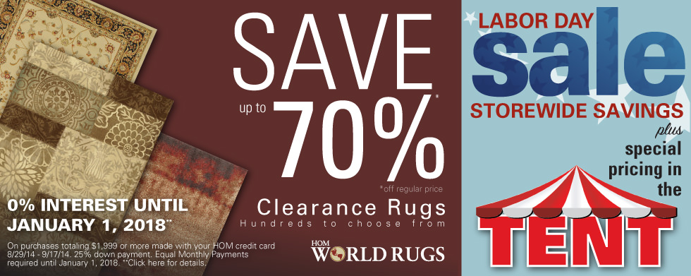 Giant Area Rug Clearance Going On Now!