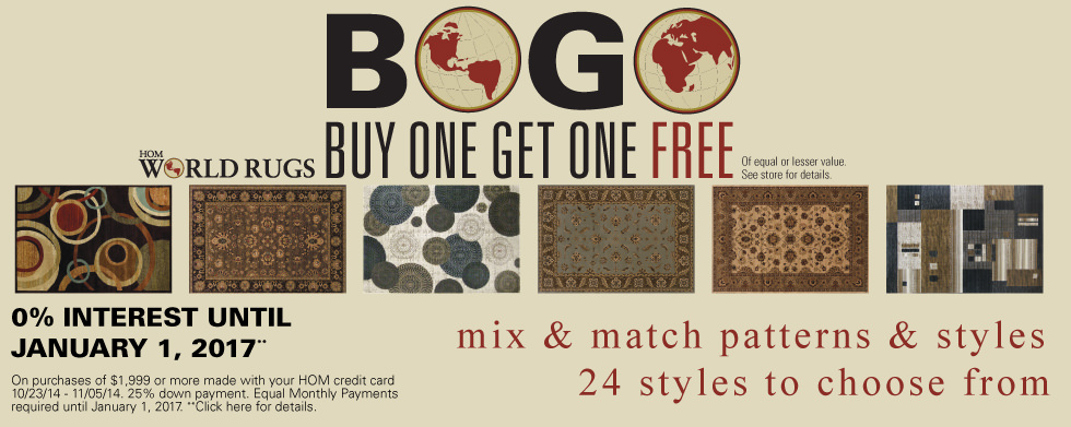 Buy One Get One Free Rugs