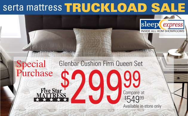 Serta Mattress Truckload Sale going on now! Stores in Minneapolis Minnesota & Midwest.